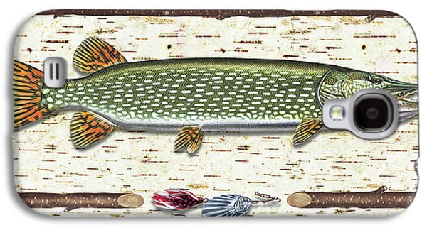 Antique Birch Pike And Lure Galaxy S4 Case by JQ Licensing