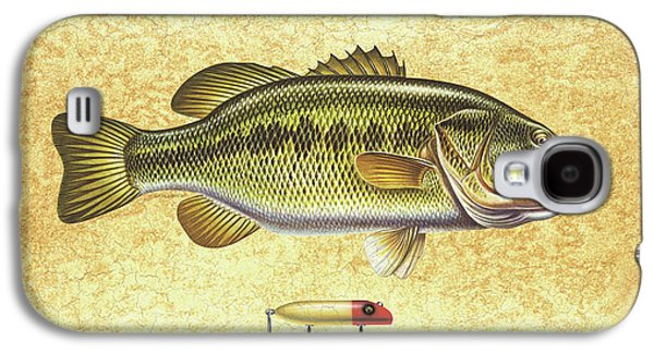 Antique Lure And Bass Galaxy S4 Case by JQ Licensing