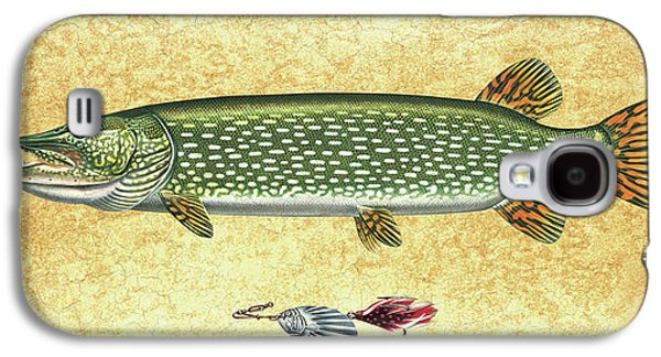 Antique Lure And Pike Galaxy S4 Case by JQ Licensing