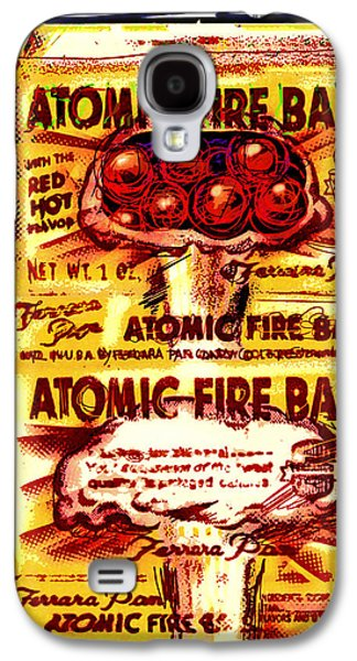 Atomic Fire Ball Galaxy S4 Case by Russell Pierce