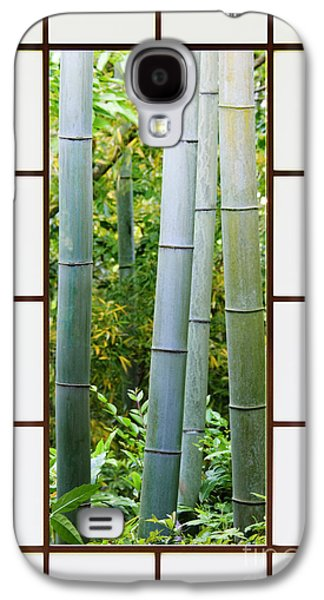 Bamboo Forest Through A Rice Paper Window Galaxy S4 Case by Jeremy Woodhouse
