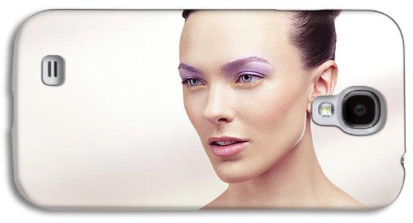 Beautiful Young Woman Portrait Galaxy S4 Case