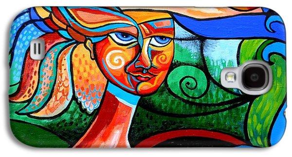 Bird Lady Galaxy S4 Case by Genevieve Esson