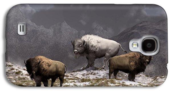 Bison King Galaxy S4 Case by Daniel Eskridge