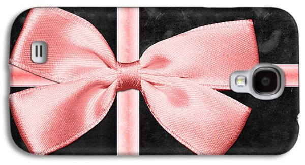 Black Gift Box With Pink Bow Galaxy S4 Case