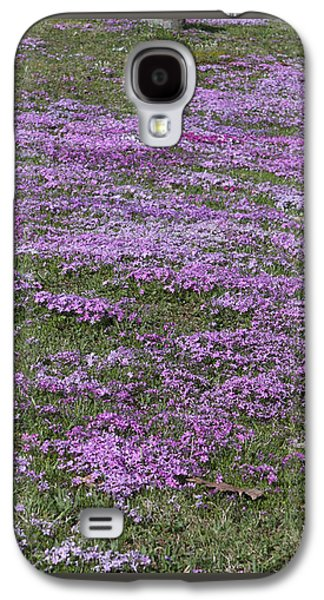 Final Resting Place Galaxy S4 Case - Blank Colonial Tombstone Amidst Graveyard Phlox by John Stephens