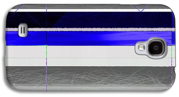Blue And White Stripes Galaxy S4 Case by Naxart Studio