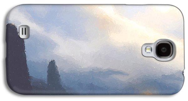 Blue Mountains  Galaxy S4 Case by Pixel  Chimp
