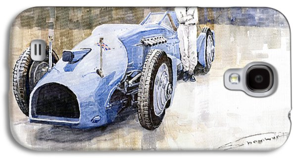 Bluebird Galaxy S4 Case - Bluebird 1933 Daytona Malkolm Campbell by Yuriy Shevchuk