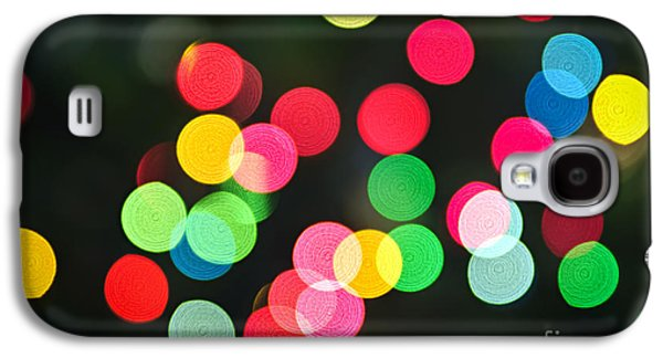 Blurred Christmas Lights Galaxy S4 Case