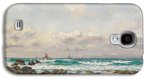 Boats At Sea Galaxy S4 Case by William Lionel Wyllie