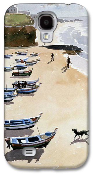 Boats On The Beach Galaxy S4 Case by Lucy Willis