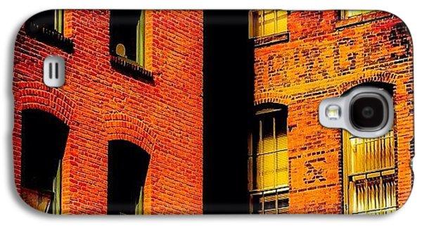 Orange Galaxy S4 Case - Brick & Glass by Matthew Blum