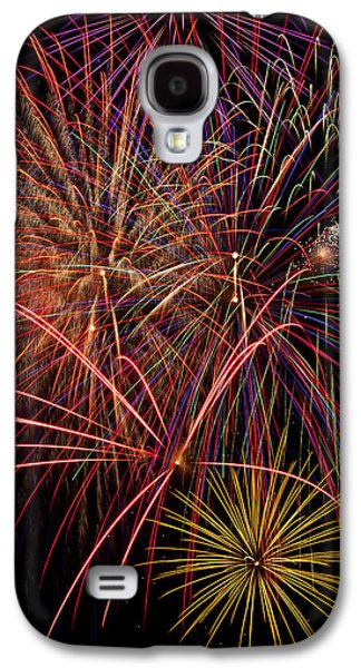 Bright Colorful Fireworks Galaxy S4 Case
