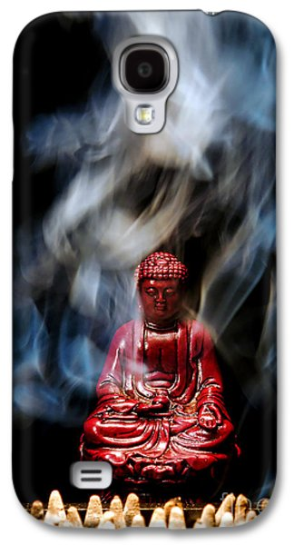 Buddha In Smoke Galaxy S4 Case by Olivier Le Queinec