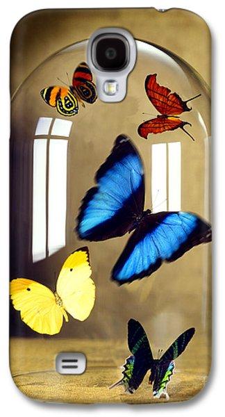 Butterflies Under Glass Dome Galaxy S4 Case by Tony Cordoza