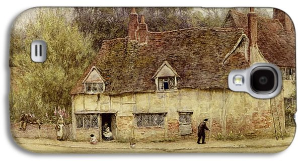 By The Old Cottage Galaxy S4 Case by Helen Allingham
