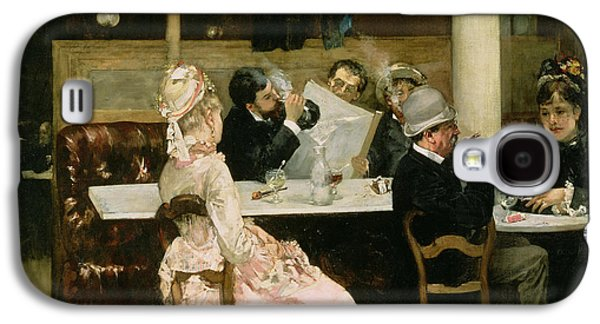 Cafe Scene In Paris Galaxy S4 Case by Henri Gervex