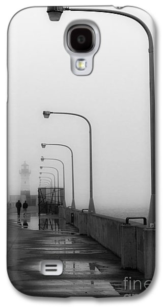 Canal Park Lighthouse In Fog Galaxy S4 Case