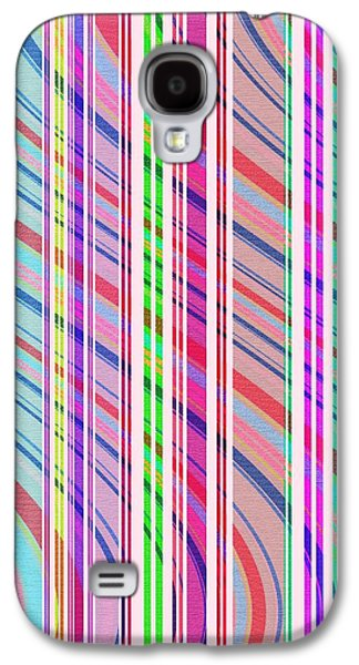 Candy Stripe Galaxy S4 Case by Louisa Knight