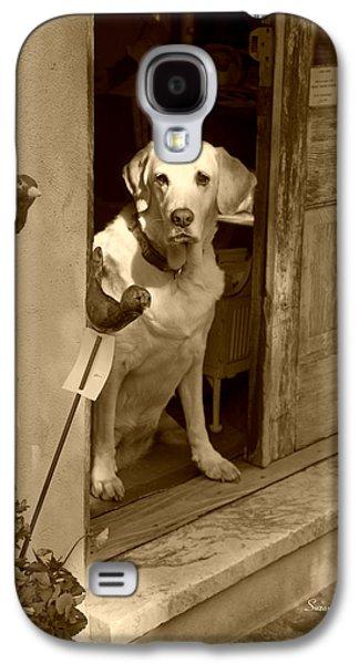 Charleston Shop Dog In Sepia Galaxy S4 Case by Suzanne Gaff