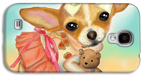 Chihuahua Princess Galaxy S4 Case by Catia Cho
