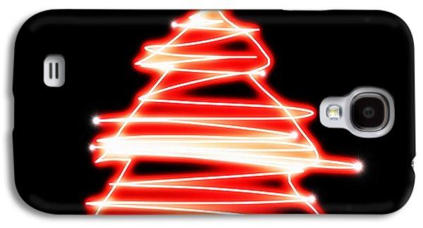 Christmas Tree Lighting Galaxy S4 Case by Setsiri Silapasuwanchai