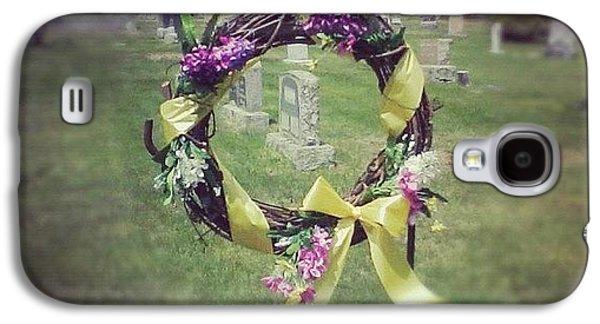 #circle #ribbon #flower #flowers #reef Galaxy S4 Case