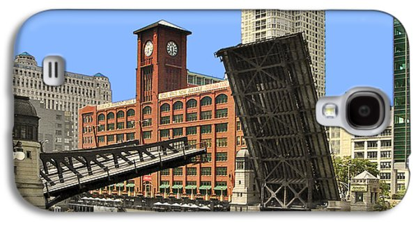 Clark Street Bridge Chicago - A Contrast In Time Galaxy S4 Case