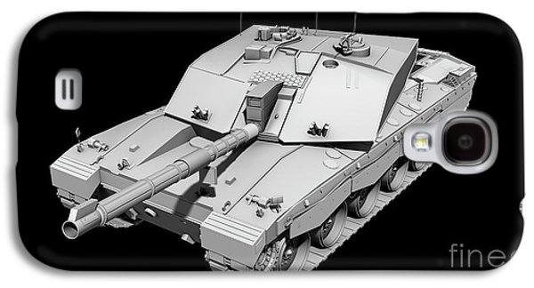 Clay Render Of A Challenger II Tank Galaxy S4 Case by Rhys Taylor