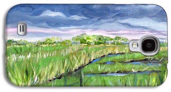 Cloudy Marsh Galaxy S4 Case by Clara Sue Beym