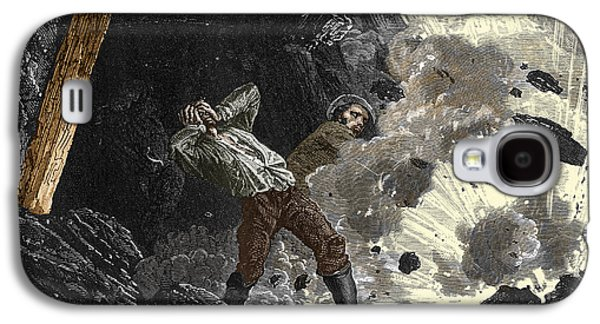 Coal Mine Explosion, 19th Century Galaxy S4 Case by Sheila Terry