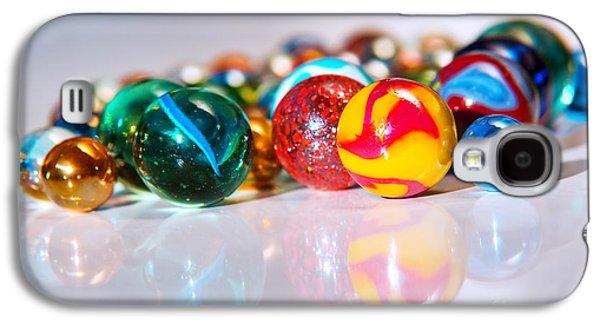 Colorful Marbles Galaxy S4 Case by Carlos Caetano