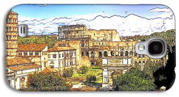 Colosseum And Roman Forum Galaxy S4 Case