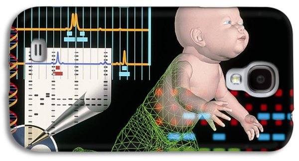 Computer Artwork Depicting Baby's Paternity Test Galaxy S4 Case