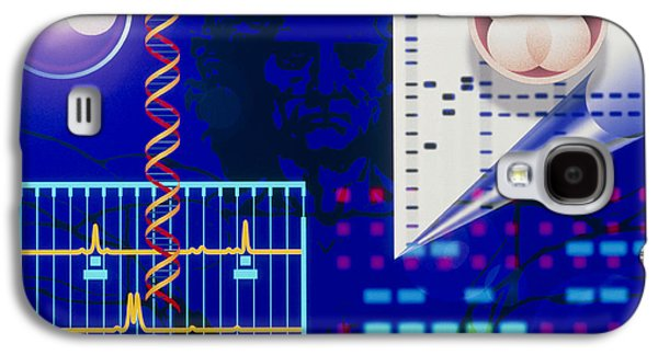 Computer Artwork Depicting Embryo Paternity Test Galaxy S4 Case