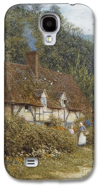 Cottage Near Witley Surrey Galaxy S4 Case by Helen Allingham