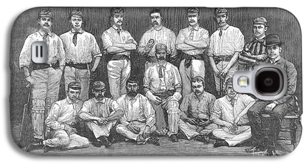 Cricket Team, 1884 Galaxy S4 Case by Granger