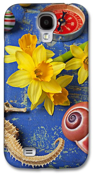 Daffodils And Seahorse Galaxy S4 Case