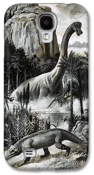Dinosaurs Galaxy S4 Case by Roger Payne