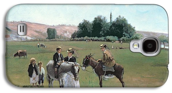 Donkey Ride Galaxy S4 Case by Camille Pissarro
