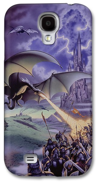 Dragon Combat Galaxy S4 Case by The Dragon Chronicles - Steve Re