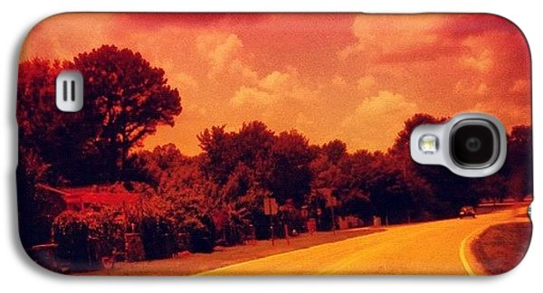 #driving #sky #clouds #road #summer Galaxy S4 Case