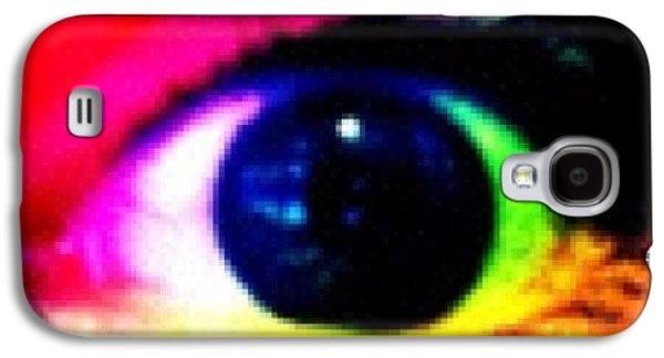 Bright Galaxy S4 Case - Eye by Lea Ward