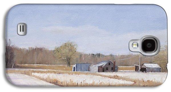 Farmland In Winter  Concord Massachusetts Galaxy S4 Case by Mark Pimentel