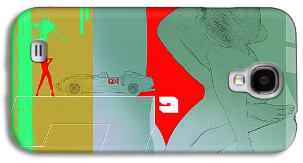 Ferrari And A Girl Galaxy S4 Case by Naxart Studio