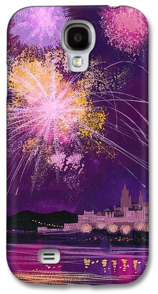 Fireworks In Malta Galaxy S4 Case by Angss McBride