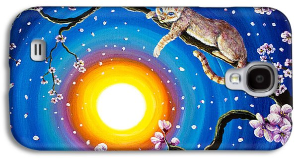 Flame Point Siamese Cat In Cherry Blossoms Galaxy S4 Case
