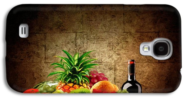 Fruit And Wine Galaxy S4 Case by Lourry Legarde