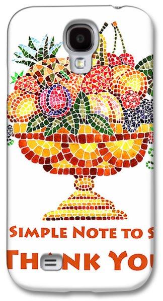 Fruit Mosaic Thank You Note Galaxy S4 Case by Irina Sztukowski